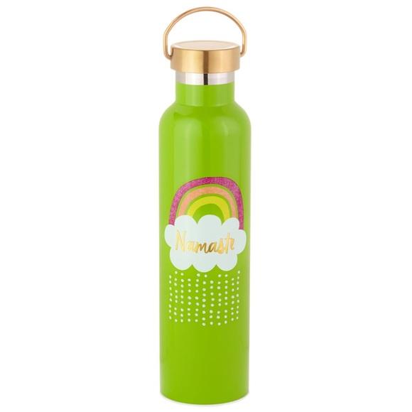 Hallmark Other - Hallmark Green Rainbow Namaste Water Bottle